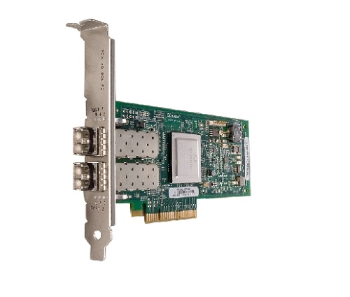 Dell QLogic QLE2562 Dual Port 8Gbps Fibre Channel PCIe HBA Card, Full Height (406-10695)