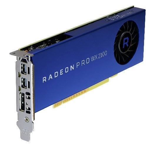 Dell Radeon Pro WX 2100 2GB, DP. 2 mDP, Precision (490-BDZR)
