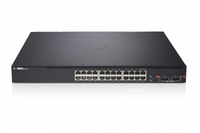 Dell Networking N4032, 24x10GBASE-T Fixed Ports, Hot Swap Modular Bay, 2xPower Supplies, 3Y PNBD (210-ABVS) в XPS-PRO.RU